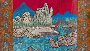 薛松 山樹春色 2013 120X210.5cm 綜合媒材布面